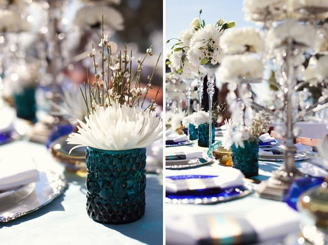 I 39m loving the fabulous blue hues seen in this bridal shower designed by