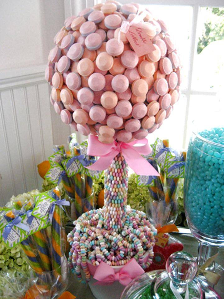 Candy Topiary Centerpiece : Centerpieces for less topiary diy project wedding forums