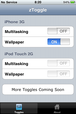 How to enable background wallpaper and multitasking on iPod Touch