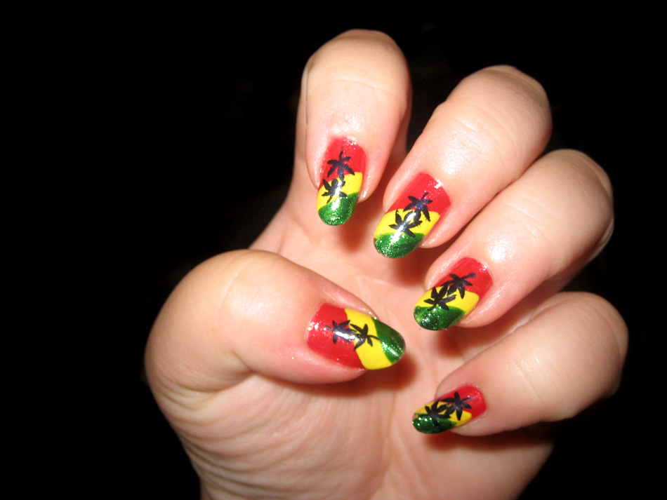 Rasta Nails With Design Nail Designs Woman View Images