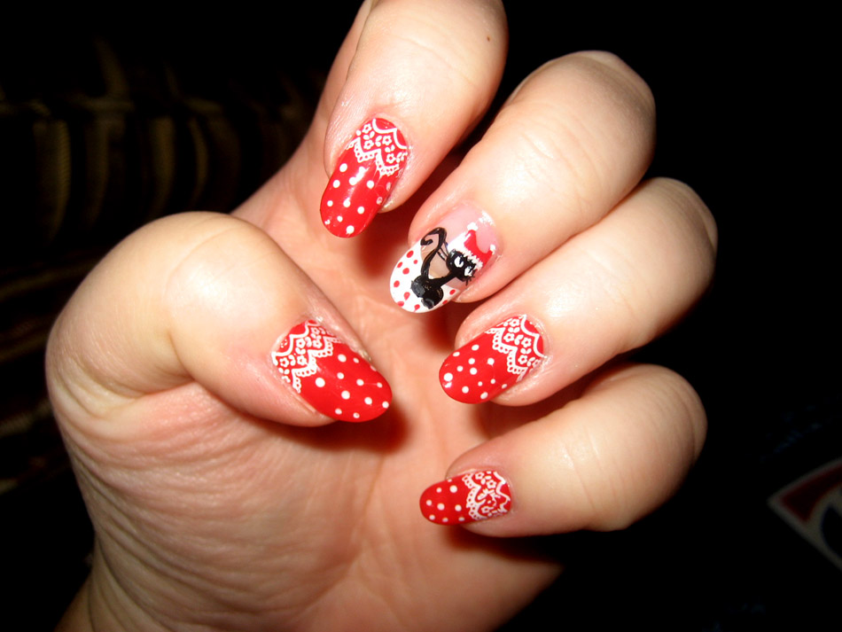 Nail art world gallery of nail design christmas manicure prinsesfo Gallery