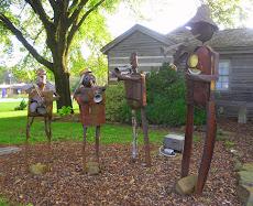 A Blues Quartet Sculpture