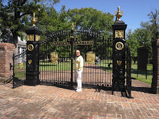 The gates to the cemetary