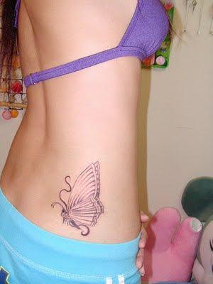girly tattoo. girly tattoos on side. girly