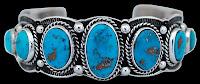 Multi-Stone Bisbee Turquoise Bracelet