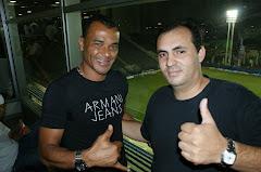 CAFU e o jornalista Cristovão MARINHEIRO
