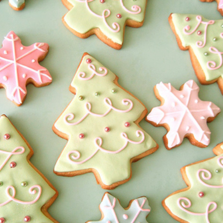 The Urban Un-MARTHA: Matcha Christmas Tree Cookies