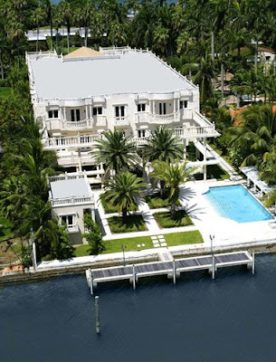 Villa Ferrari, Scott Storch's house on Palm Island, Miami Beach Florida
