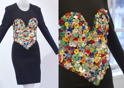Above An Iconic Patrick Kelly Heart Dress Made From Mes Of Plastic Ons