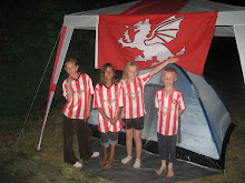 My young lions with their Englisc flag