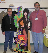 Greg, Dennis, Cardboard Elvira