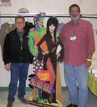 Greg, Dennis, Cardboard Elvira