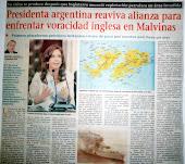 Presidenta argentina reaviva alianza para enfrentar voracidad inglesa en Malvinas