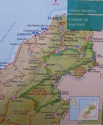"""Ubicación del Parque Nacional """"Cerros de Amotape"""". Location of National Park de Amotape """""""
