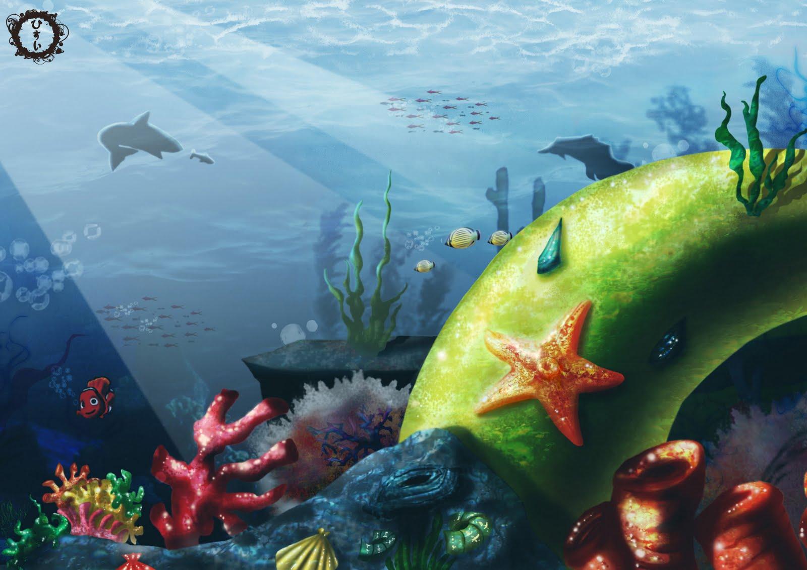 Sfondi fondali marini stelle for Sfondi pesci tropicali