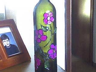 garrafa pintada à mão