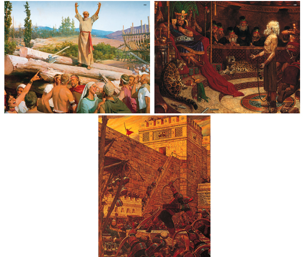 Show Pictures GAK 102 Building The Ark 308 Abinadi Before King Noah And 314 Samuel Lamanite On Wall