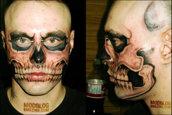 Skull Facial Tattoo Part 1