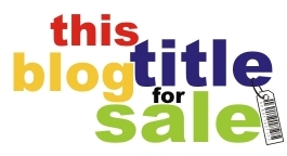 This Blog Title For Sale