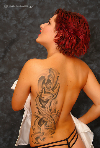 Many women like beautiful tattoos