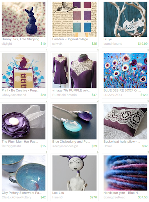 dreams, treasury, purple, blue, handmade