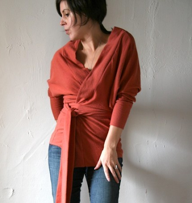 orange wrap shirt