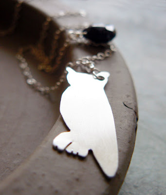 woodland creatures owl necklace