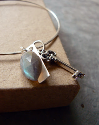 gemstone dangle bracelet