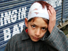 CHILDREN BEATEN FOR ANTI-POLL PROTESTS