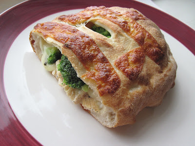 Broccoli-Ham Calzone Recipe — Dishmaps