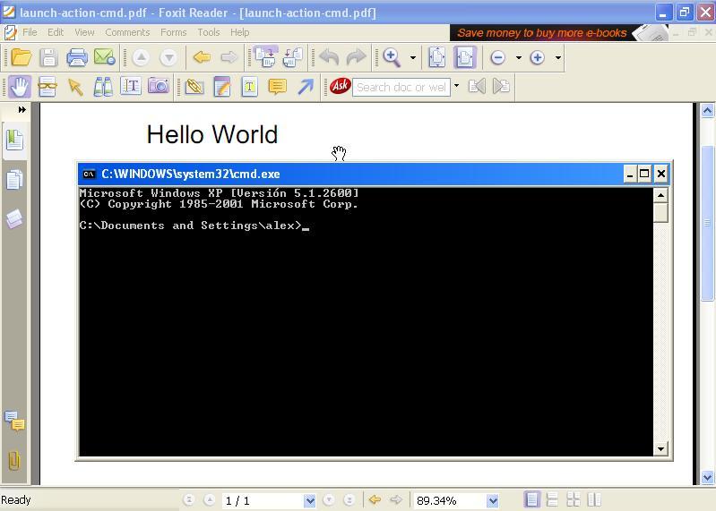 Cuidado con los PDFs Foxit-cmd-exe