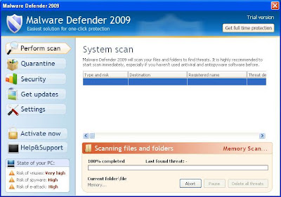 Malware Defender 2009