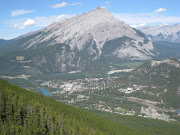 Banff from the mountain top (img )