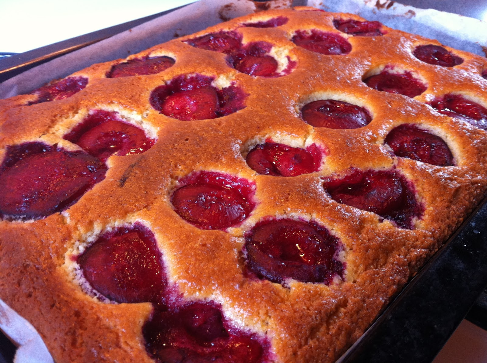 Fresh Cooked Plums And Cake Recipes