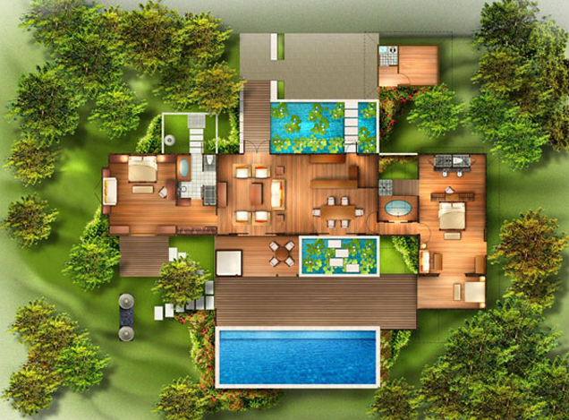 From bali with love tropical house plans from bali with Bali home design