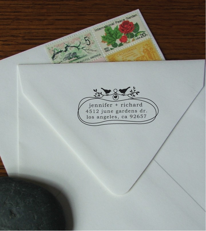 but i can completely get behind these darling return address stamps from note trunk stamps paper to ease the burden of writing everything by hand - Return Address On Wedding Invitations