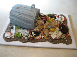Trash Can Cake