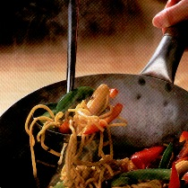 Cortar Verduras para cocer en el Wok