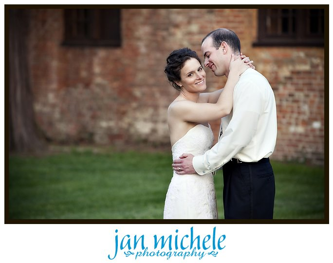 romantic portrait at Mt. Airy Mansion