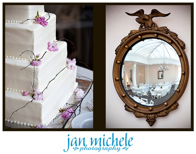 wedding cake by Celebration Cakes mount airy mansion wedding