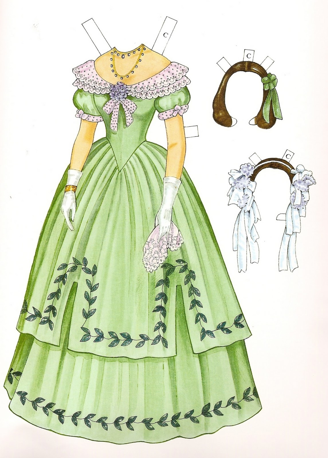 Godey's Early Victorian Fashions - Charlotte (1838 - 1858) | Gabi's ...: gabipaperdolls.blogspot.com/2010/12/charlotte-1838-1858.html#!