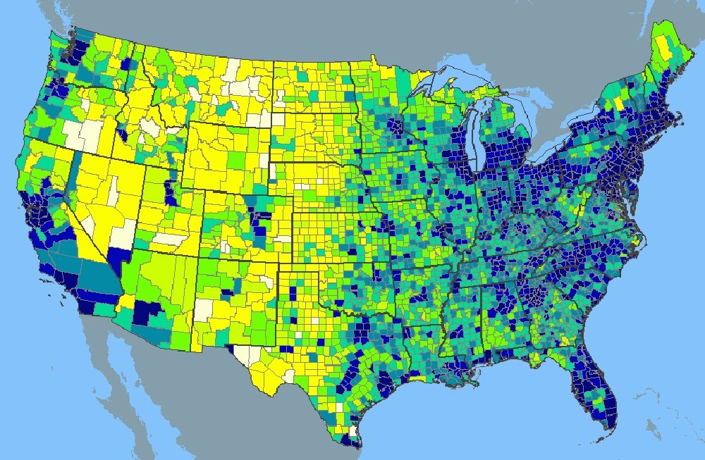 Population Distribution & Density