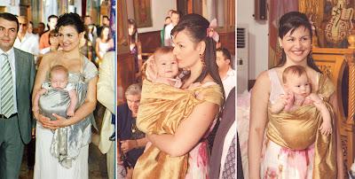 Στη βάφτιση των παιδιών μου, τα φορούσα σε μάρσιπο αγκαλιάς χωρίς να κουραστούμε καθόλου!