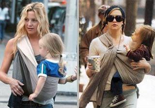 Η Kate Hudson, πανέμορφη μανούλα με τα μωρά της σε sling και pouch