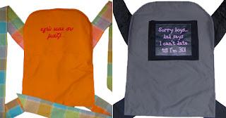 Τυπωμένες φράσεις στη μπλούζα σου, γιατί όχι και στο mei tai σου;