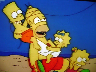 Ο μπαμπάς Σίμπσον με τα τρία του παιδιά!
