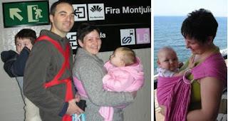 Βόλτες, ταξίδια και αγκαλιές με ένα ροζ μάρσιπο αγκαλιάς!