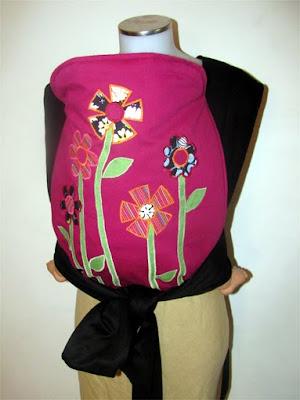 Φτιάχνουμε μάρσιπο αγκαλιάς με απλικέ λουλούδια!
