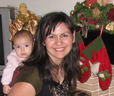 Με τη μικρή μου κόρη, 5 μηνών, φέτος τα Χριστούγεννα