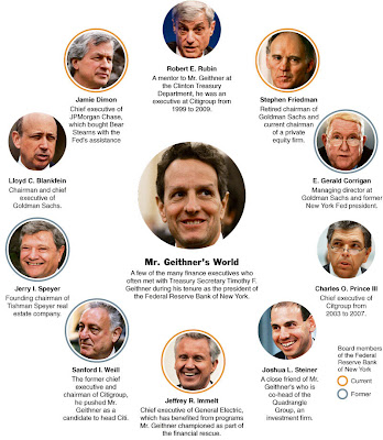 geithner worked for  goldman sachs